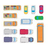 Fototapety Transport. Automobile Parking on White Background