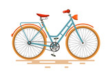 Vintage Vector Bike. Retro Bicycle Isolated on White Background. - 133938505