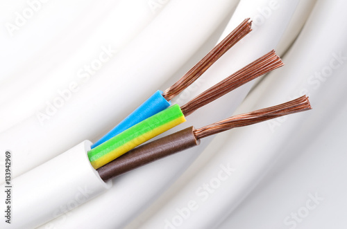 Poster Electrical power cable macro photo