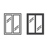Glass window line icon, outline and filled vector sign, linear and full pictogram isolated on white. Symbol, logo illustration - 133943717