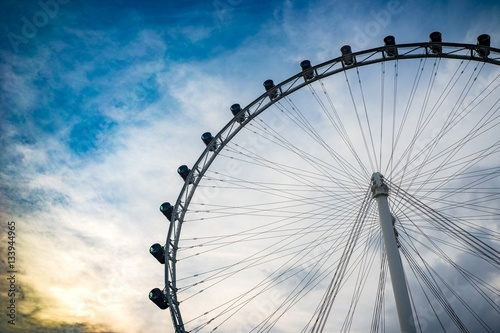 Toned flyer. Large ferries wheel. Poster