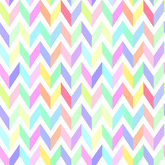 chevron pastel colorful pattern seamless vector
