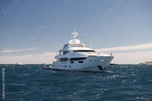 Tuinposter Nice Luxury yacht