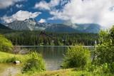 Europe, country Slovakia. Mountain lake Strbske pleso, national park High Tatras.