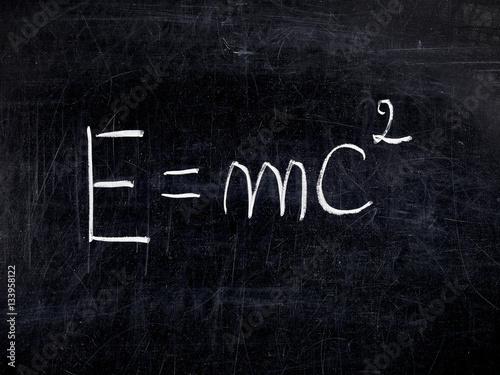 Formula E=mc2 theory Relativity balckboard chalkboard Poster