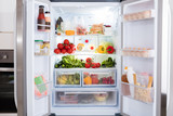 Refrigerator With Fruits And Vegetables - 133973378