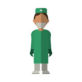 surgeon doctor wearing clothes medical uniform vector illustration eps 10