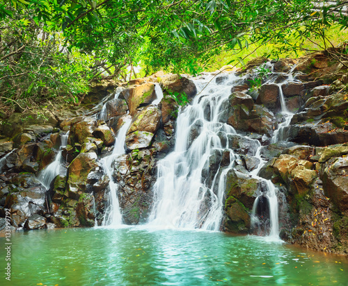 Cascade Vacoas waterfall. Mauritius - 133999792