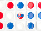 Mosaic background with flag of slovakia