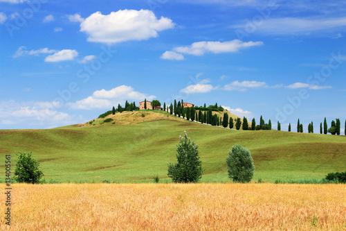 Fotobehang Toscane Campagne Siennoise en Toscane