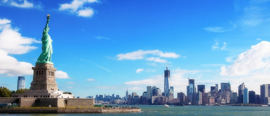Panorama on Manhattan, New York City