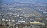 Aerial view of the New Jersey turnpike and Newark Liberty International Airport (EWR)  - 134028159