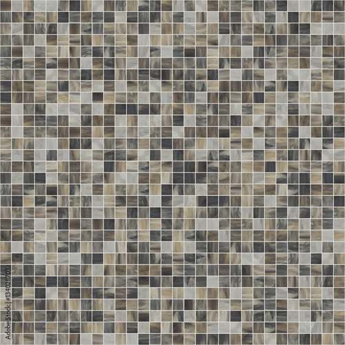 Large square seamless texture of mosaic tiles 07 - 134028703