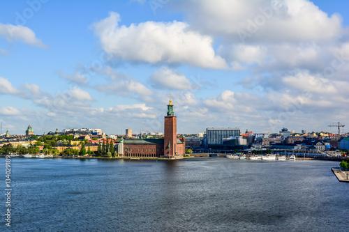 Poster Stockholm cityscape, Sweden.