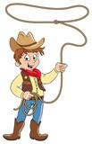 Vektor Illustration eines kleinen Cowboys - 134029553