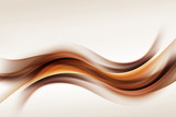 Gold Brown Waves Blurred Abstract Background - 134030154