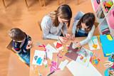 Teacher with Kids - Creative Arts Class - 134033196