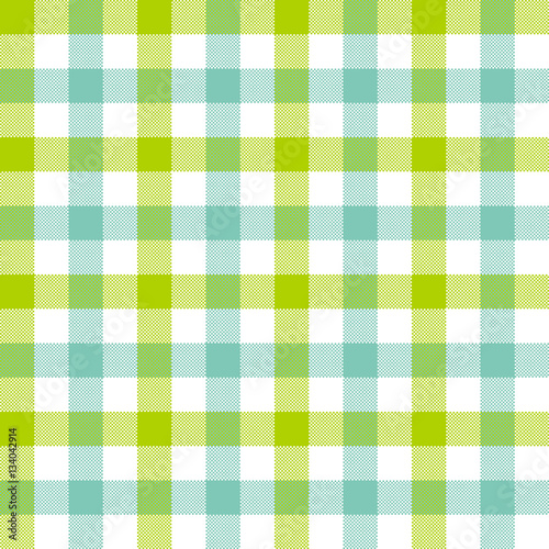 Green Blue Check Tablecloth Seamless Pattern