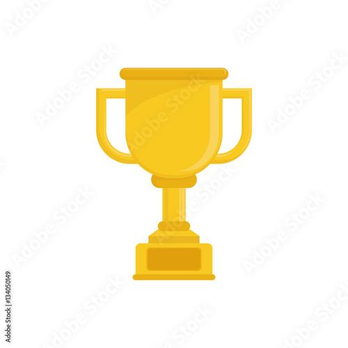 Foto op Canvas Championship trophy cup icon vector illustration graphic design