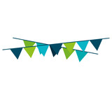 garlands party decoration icon vector illustration design