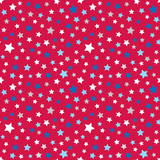 Cute pattern for kids - bright stars on clear sky