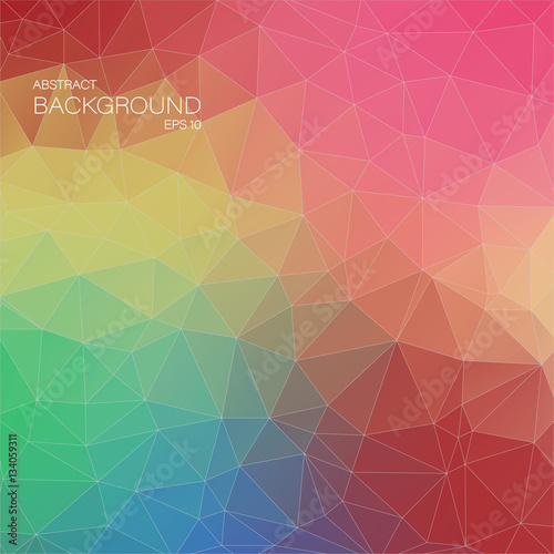 Fotobehang Geometrische Achtergrond Abstract 2D geometric colorful background