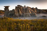 First light at sunrise at Theodore Roosevelt National Park, ND