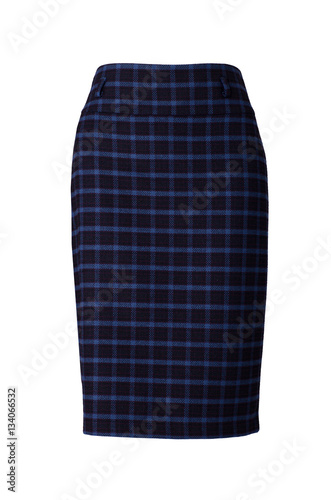 Poster Plaid skirt isolated on white background