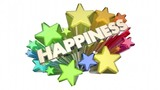 Happiness Joy Emotion Glad Happy Word Stars 3d Animation