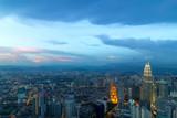 Kuala Lumpur City During Twilight Aerial View