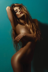 beautiful silhouette of nude girls which sexy covers hand chest