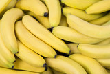 Fresh bananas and South America map