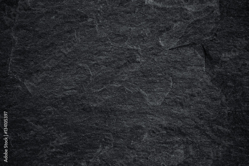 Dark grey black slate background - 134105397