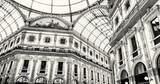 Galleria Vittorio Emanuele II in Milan city, colorless photo