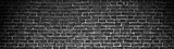 Fototapety black brick wall, wide panorama as a backdrop