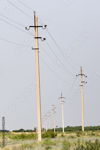 Poster electric poles at dawn