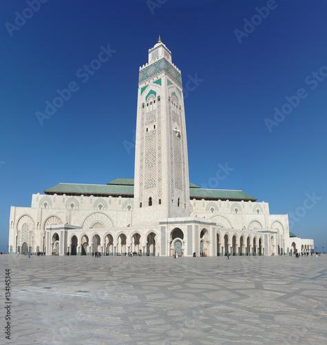 """The Hassan II Mosque or Grande Mosquée Hassan II (nickname: """"Casablanca Hajj"""" (c Poster"""