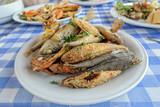 Cyprus seafood on plate