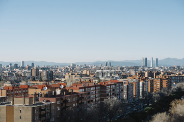 Madrid Skyline from the air
