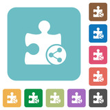 Share plugin rounded square flat icons