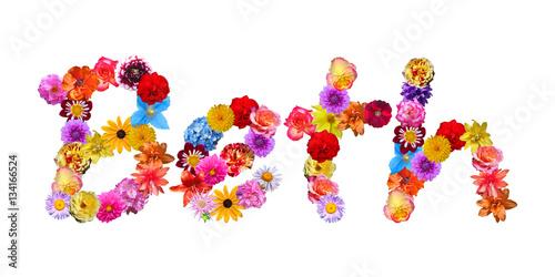 Flower Name Beth Poster