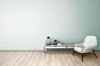 3d illustration of empty wall interior design - 134184950