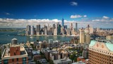 New York Manhattan View from Brooklyn rooftop Day Timelapse - 134192376