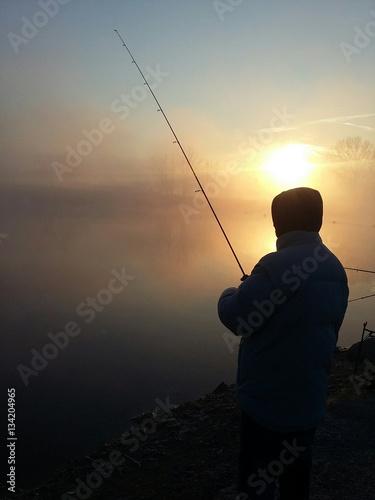 Pescatore all'alba Poster