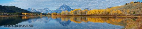Fotobehang Blauwe jeans Autumn landscape in Yellowstone, Wyoming, USA