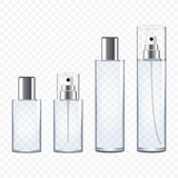 Set of Transparent Perfume Bottles, vector illustration - 134218723