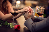 Romance at restaurant for Valentine's Day-concept - 134219982