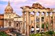 Roman Forum at sunset, Rome, Italy