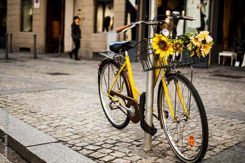 Poster Bicicletta con fiori