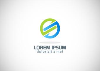 round shape circle colored logo